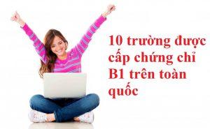 5 trường được cấp chứng chỉ B1 tiếng Anh Châu Âu bạn nên biết mới 2020