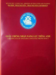 Chứng chỉ tiếng Anh B1 do Đại học Thái Nguyên cấp