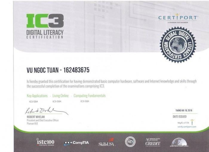 Tổ chức luyện thi chứng chỉ tin học IC3 và Chứng chỉ Ứng Dụng CNTT